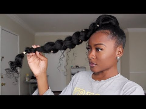 styles to do with kanekalon hair jumbo braid goddess ponytail hair 1598