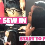 Natural FLAT Sew In Start to Finish [Video]