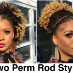 Perm Rod Out AND Curly Puff with Flat Twists | Natural Hair [Video]