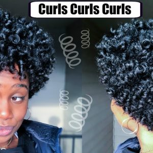 Perm Rod Set on Short Natural Hair [Video]