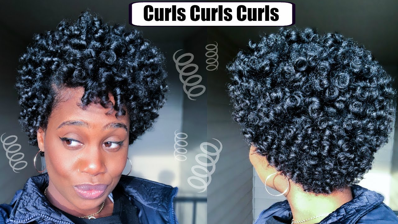Perm Rod Set On Short Natural Hair Video Black Hair