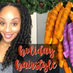 SLEEK HEATLESS CURLS????| HOLIDAY PARTY HAIRSTYLE NATURAL HAIR [Video]