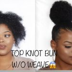 Top Knot Bun on Short Natural Hair [Video]
