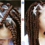 Triangle Box Braids Jumbo Size | Rubber band Method [Video]