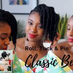 Simple Wash Day Style For Natural Hair | Roll, Tuck' N' Pin Updo [Video]