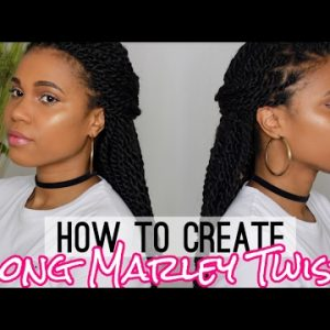 How To Create Long Marley Twist   Collab w. Hair By Mason [Video]