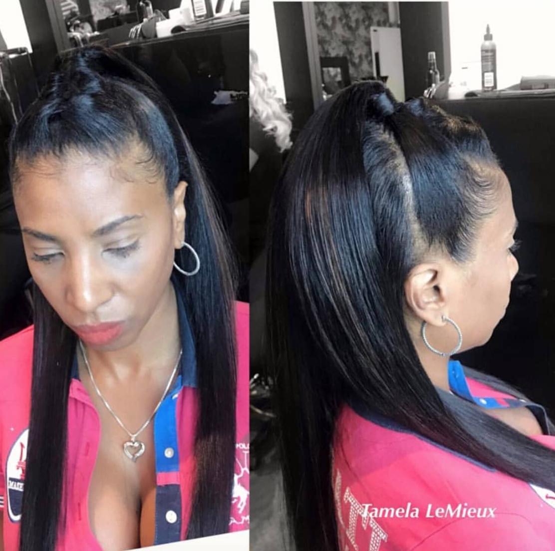 Simple Yet Sleek Partial Quick Weave By Tamelalemieux Black Hair