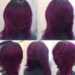 Flawless purple bob via @atouchoffaithhair