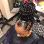 Flawless braided bun by @nisaraye