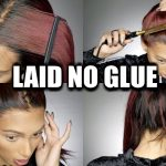 BACK Of Lace Wig Application{NO GLUE} HIGH PONYTAIL Start To Finish Process [Video]