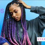 BOX BRAIDS: EASY/LOW TENSION STEP BY STEP ft- RASTAFRI BRAID [Video]