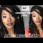 EASY Way to DIY Install INDIVIDUAL Crochet FAUX Locs using Knotless Method | NO CORNROWS: Nu Locs [Video]