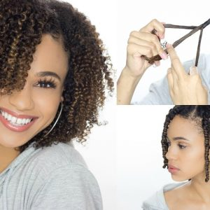 How To 3 Strand Twist Out + Nighttime Routine (Detailed) [Video]