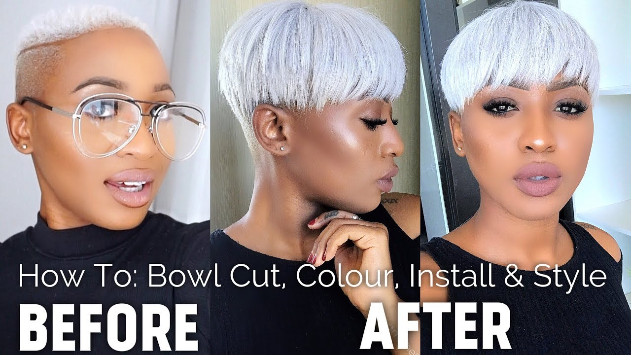 How To Bowl Cut Colour Installation Style Icy