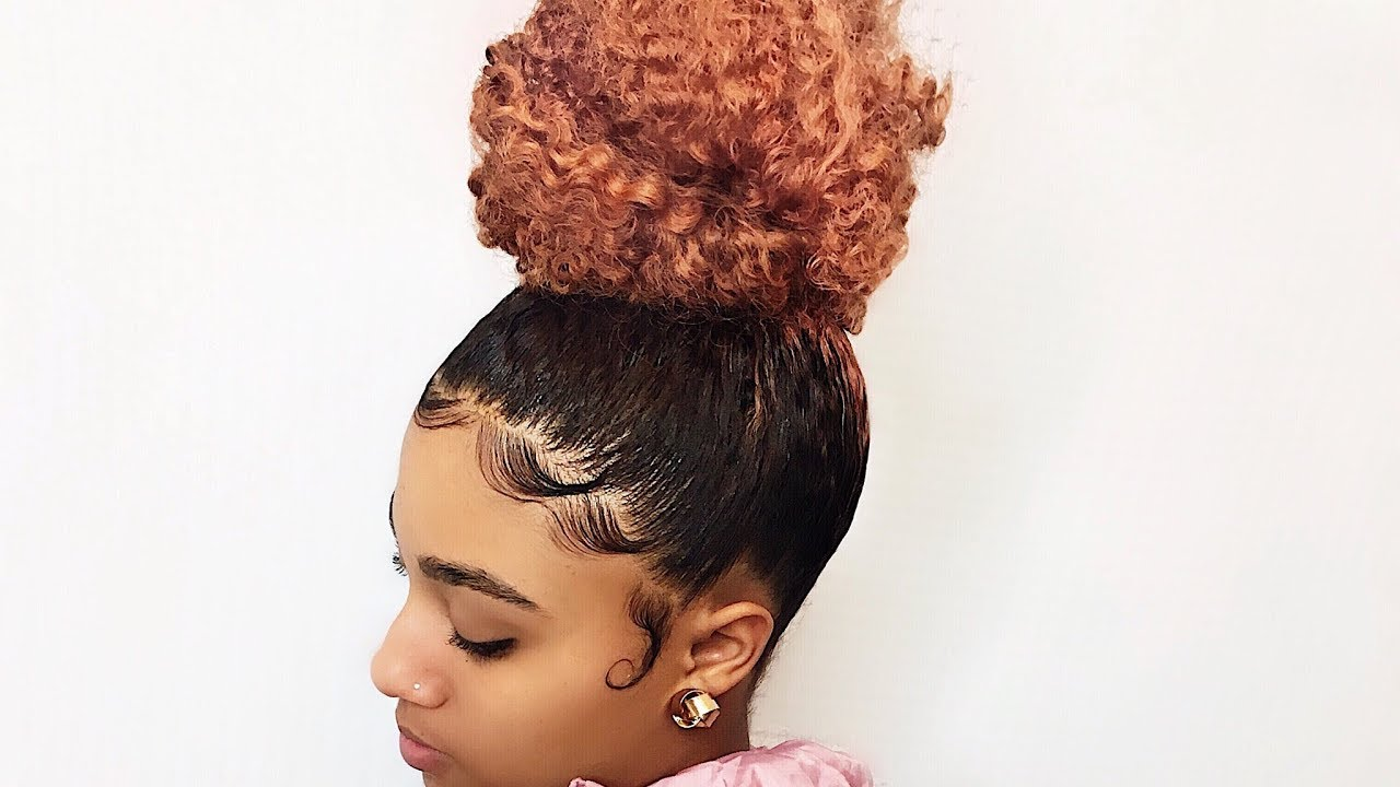 How To High Bun And Slayed Edges Trimming My Daughter S