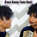 Last Minute New Year Eve Hair/ Faux Bang & Faux Bun [Video]