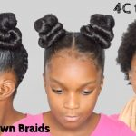 SLEEK Spice Girls Double Buns + Upside DownBraids on 4C Children's Hair 2018 [Video]