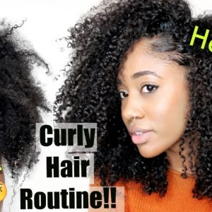 SUPER Dry to Long + Moisturized💦| Updated Natural Hair Routine for Healthy Curls [Video]