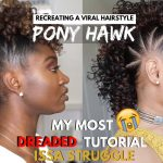 The Pony Hawk | Recreating VIRAL Hairstyle + BTS Clips [Video]