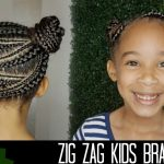 Zig Zag Braid Hairstyle for Kids | How to do Kid's Hair [Video]