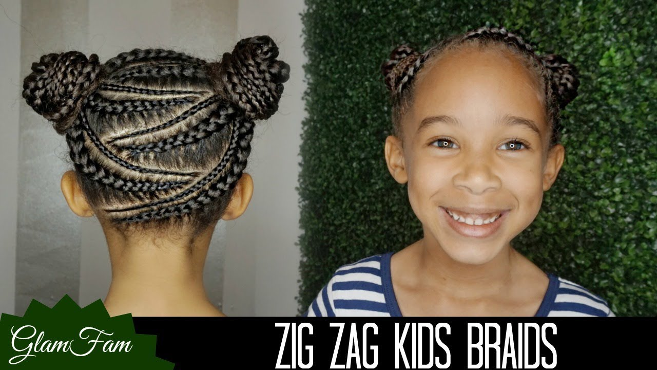 Zig Zag Braid Hairstyle For Kids How To Do Kid S Hair