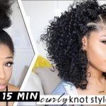 EASY 15-MIN KNOTTED CURLY STYLE! ???? | hair how-to [Video]