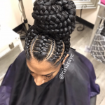 Gorgeous braided bun via @nisaraye