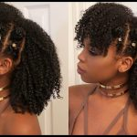 Braided Bantu Knot Mohawk Style on Natural Hair