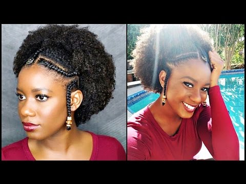 Easy Braids Amp Beads Tutorial On Natural Hair Alicia Keys
