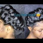 How to do a messy halo/crown braid