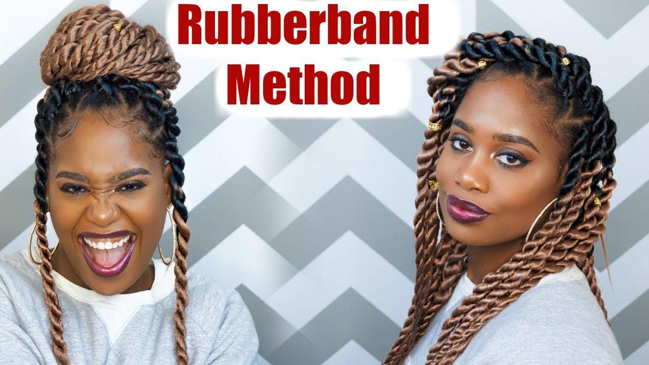 Jumbo Rope Twists Rubber Band Method Using Ez Twin Braid