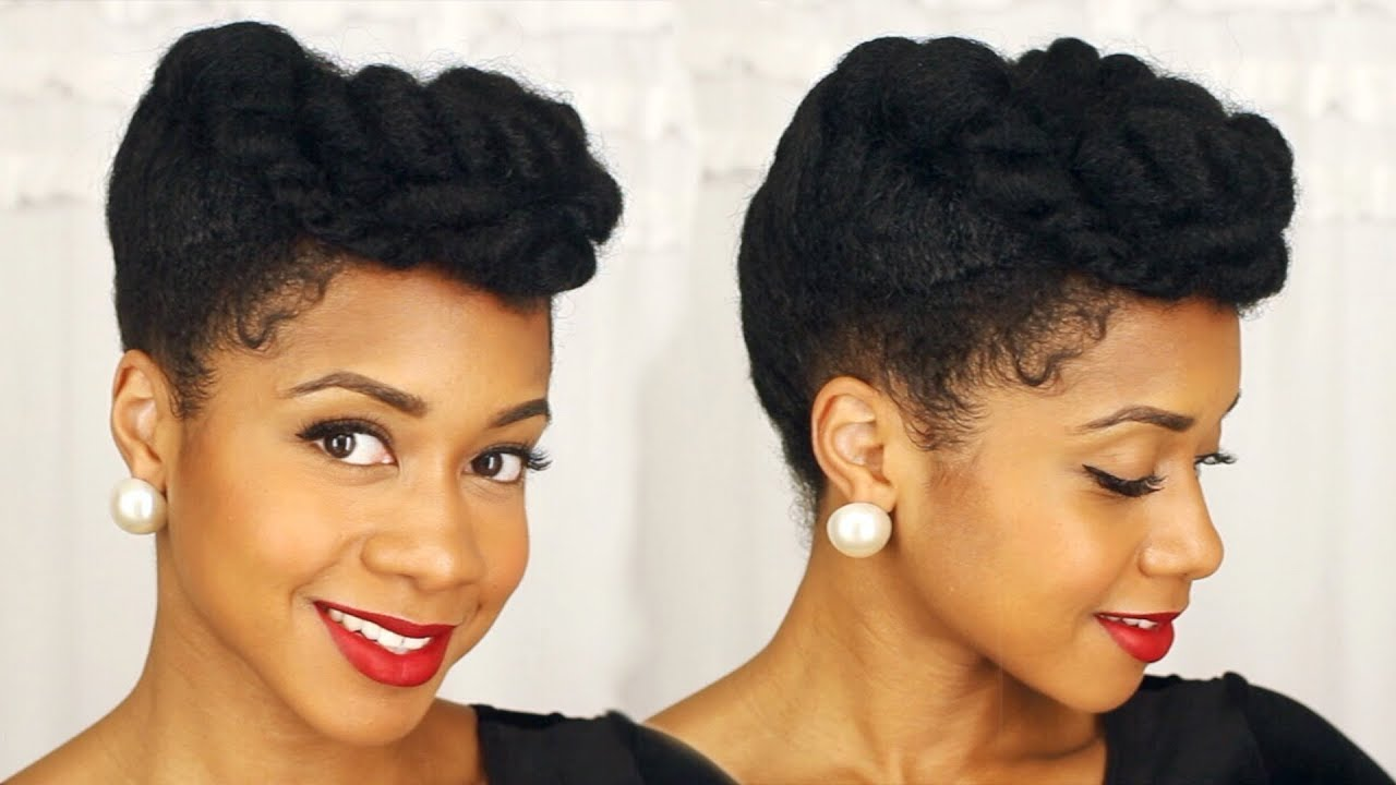 Easy Elegant Updo On Natural Hair