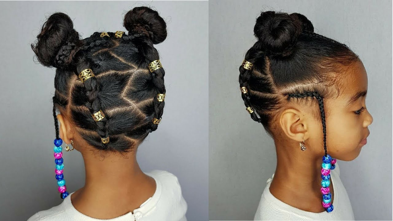 Buns & Braids- Protective Hairstyles For Girls [Video