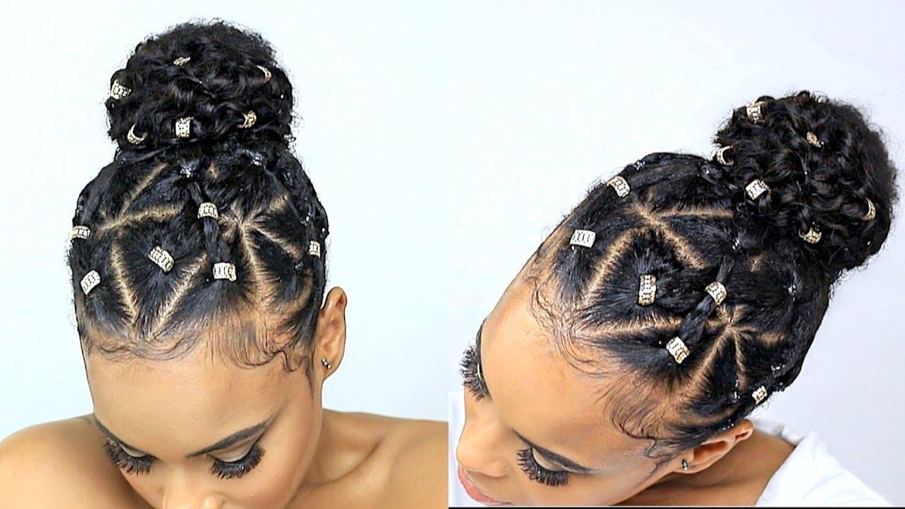 Easy Natural Hair Style For Bad Hair Days Using Hair Gel Video Black Hair Information