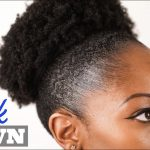 How to SLICK DOWN Natural Hair | Sleek High Puff  | 4B/4C THICK HAIR