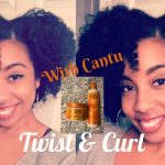 Three Strand Twist And Curl my FIRST Time using Cantu Beauty