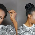 Sleek Bun on Short Natural Hair
