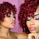 V-Day Series | $10 NO CORNROW Burgundy Crochet Braids + Makeup! (black china inspired)