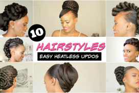 Natural Hairstyles for back women