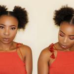 DOUBLE AFRO PUFFS ON SHORT NATURAL HAIR – BRAIDLESS CROCHET PUFFS