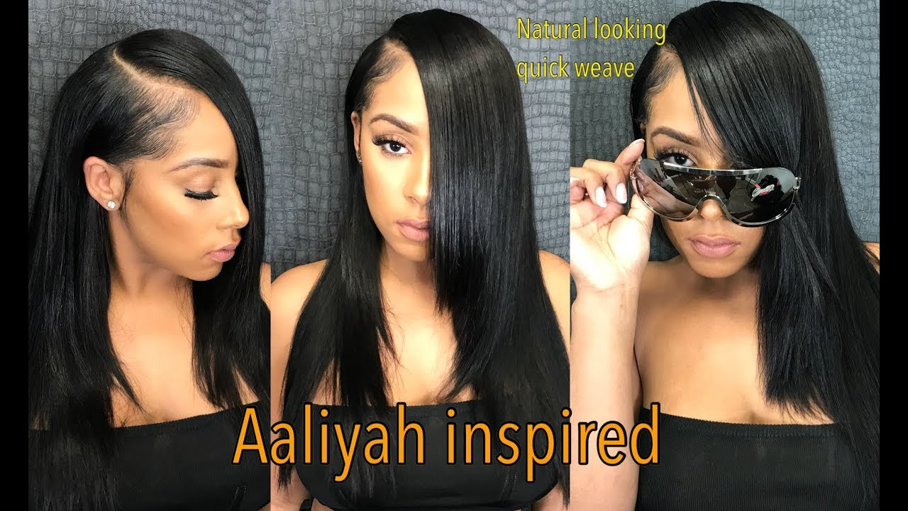 Aaliyah Inspired 90s Natural Quick Weave Video Black Hair
