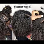 Natural Hair Sew-in WEAVE No Leave Out Tutorial Video For Beginners [Video]