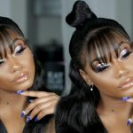Half Up Half Down frontal wig with a bang [Video]