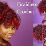 Braidless Crochet High Puff With Bang [Video]