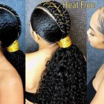 Heat-Free sleek Ponytail on Natural Hair [Video]