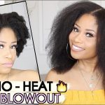 Easy No-Heat Blowout on Natural Hair! [Video]