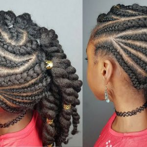 Hairstyle For Girls – Side Braids & Twists [Video]