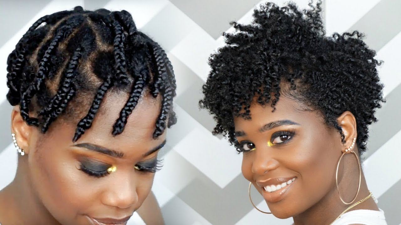 How To Do A Braid-Out On Tapered Natural Hair [Video
