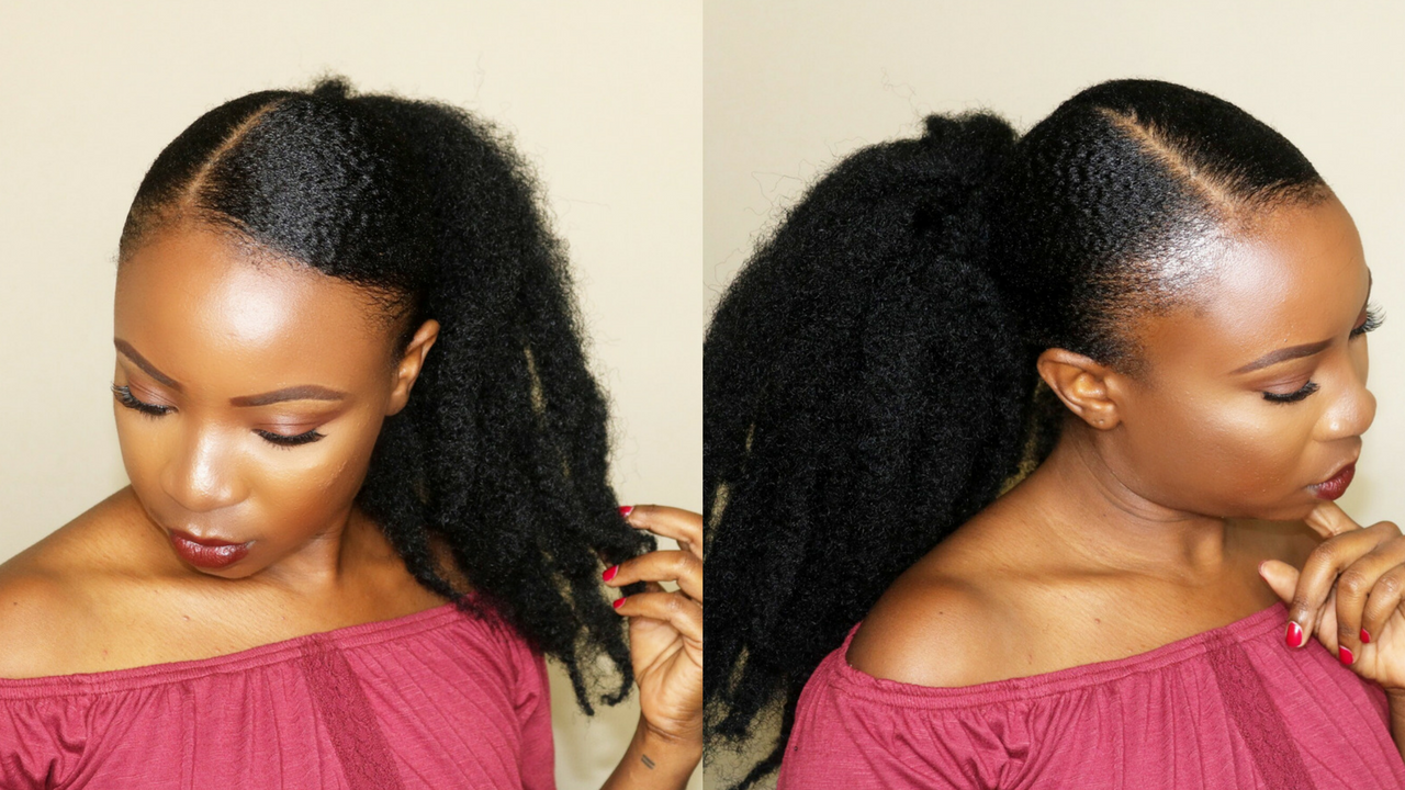 How To Sleek Back Ponytail On Short Natural Hair Video