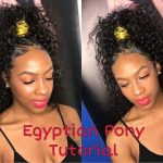 High Egyptian Ponytail Tutorial [Video]